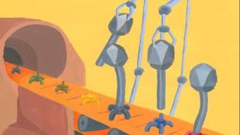 Forschende haben sogenannte Phagen so umprogrammiert, dass sie auch andere Bakterien befallen können als jene, für die sie spezialisiert sind. (Illustration)