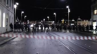Demo vor der Matthäuskirche