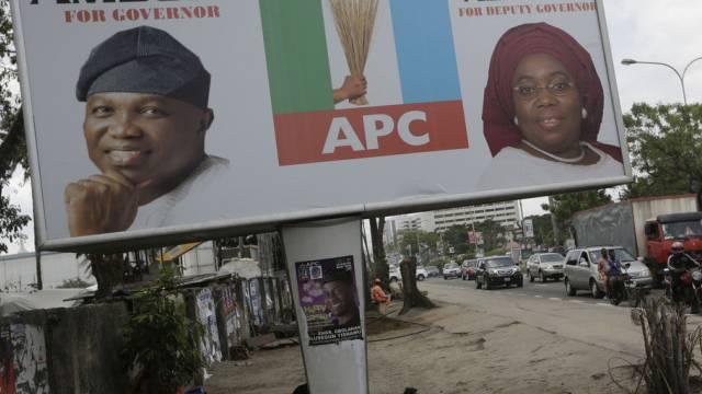 Wahlpropaganda für die APC-Kandidaten in Lagos