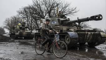 Panzer der ukrainischen Armee in der Region Donezk.