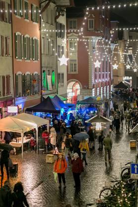 Impressionen vom Night Shopping am Aarauer Weihnachtsmarkt 2018.