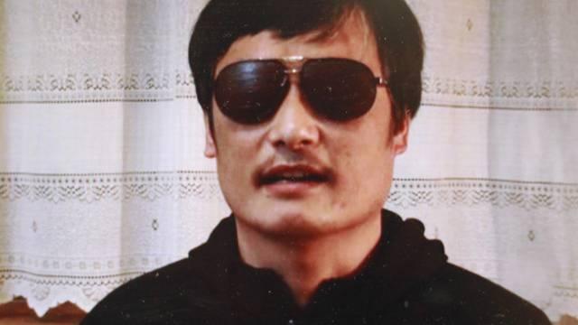 Der blinde chinesische Aktivist Chen Guangcheng auf einer Youtube-Videoaufnahme (Archiv)