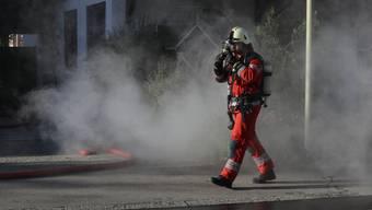 Jährliche Hauptübung der Feuerwehr Dietikon