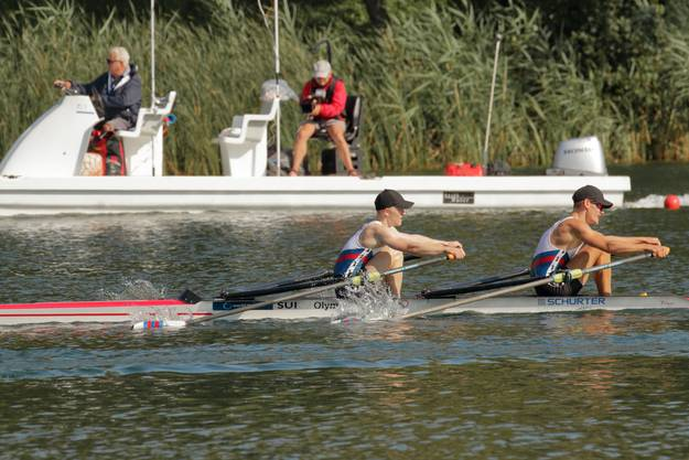 Jonathan Bieg und Julius Olaf auf dem Weg zur Silber-Medaille.