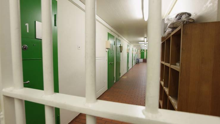 Blick in ein Gefängnis (Symbolbild).