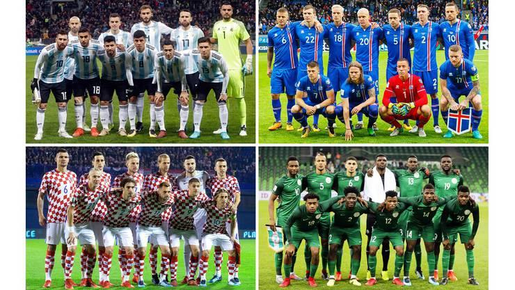 Gruppe D: Argentinien, Island, Kroatien, Nigeria