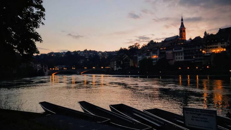 Rundfahrt mit den Pontonieren und wunderschöne Abendstimmung am Rheinufer