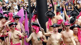 Auch Piraten an der Amsterdamer Gay-Pride