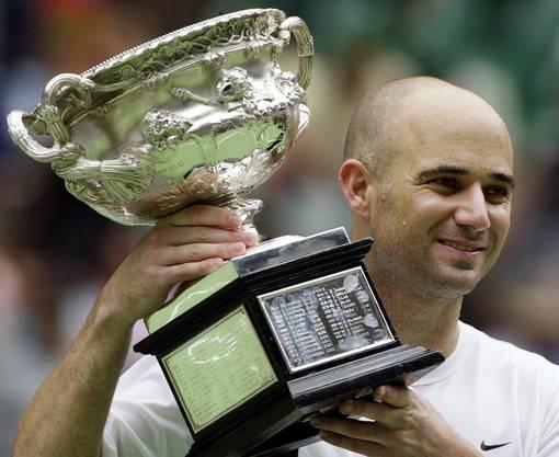 Andre Agassi gewann 2003 im Alter von 32 Jahren das Australian Open.