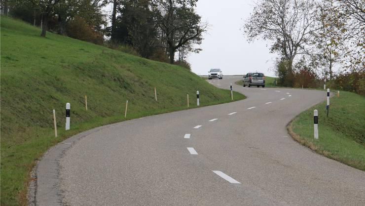 Die Kantonsstrasse soll erneuert und verbreitert werden. Bild: dka