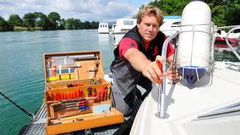 Marcel Lehmann im Jahr 2008. Er ist der Inhaber der Aarewerft in Bellach.