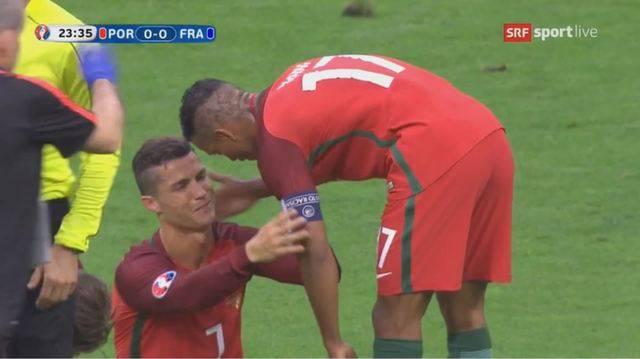 EM-Final: Bittere Tränen beim Superstar Ronaldo muss ausgewechselt werden.