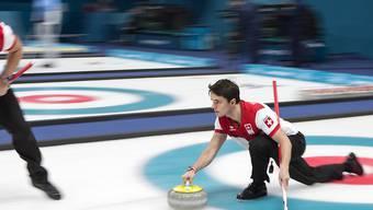 Das Schweizer Curling-Team kann das vorzeitige EM-Out nicht verhindern (im Bild Benoit Schwarz/rechts)
