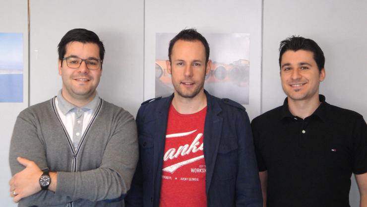 Die glücklichen und erfolgreichen Verkaufsleiter von der marketing-schulung.ch sind:  Daniel Garcia, Michael Wild, Jean-Pierre Zarbo