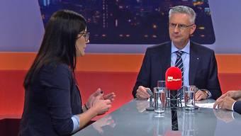 SVP-Nationalrat Andreas Glarner und die ehemalige Zuger Kantonsrätin Jolanda Spiess-Hegglin diskutierten über Ehrverletzungsklagen. Einig waren sie sich nur in einem Punkt.