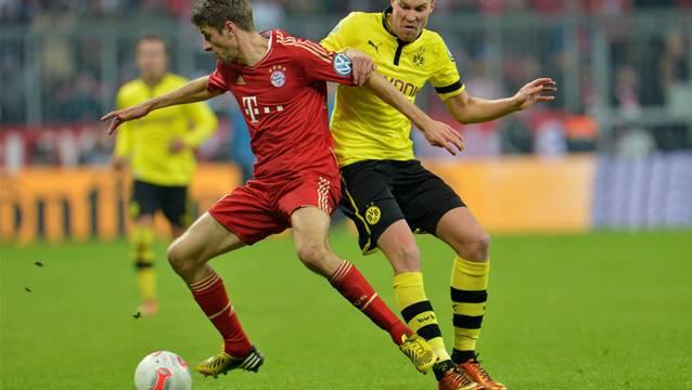 Kämpfen um die Vormachtstellung, sowohl in Deutschland als auch in Europa: Bayern München und Borussia Dortmund.