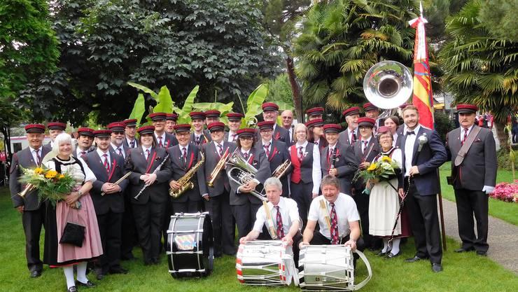 Die Musikgesellschaft Derendingen erleichtert und zufrieden nach absolviertem Pflichtprogramm.