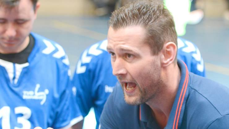 Martin Prachar in seinem Element als Doppel-Cheftrainer.