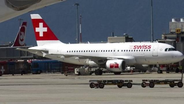 Swiss-Flugzeug am Flughafen Genf (Archiv)
