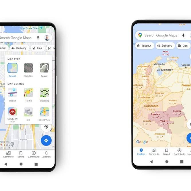Google Maps: Neuer Filter zeigt, wo Corona besonders schlimm ist