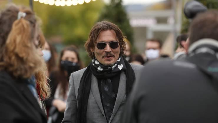 """Hollywood-Glamour am Zurich Film Festival: US-Schauspieler Johnny Depp ist nach Zürich gekommen, um den Dokumentarfilm """"Crock of Gold - A Few Rounds with Shane MacGowan"""" vorzustellen, den er mitproduziert hat."""