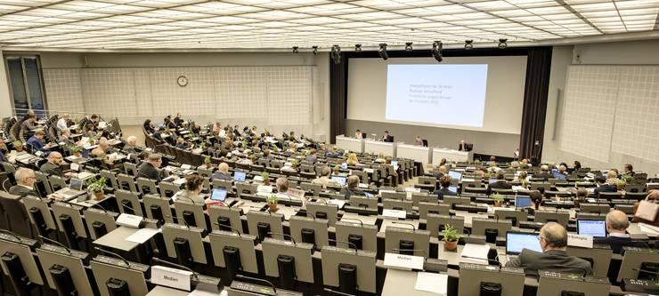 Wegen des Coronavirus und den Verordnungen des Bundes tagt der Grosse Rat am Mittwoch und Donnerstag im Congress Center Basel.