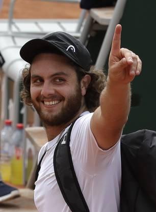 Der Aufwand hat sich gelohnt: Marco Trungelliti steht in der zweiten Runde.