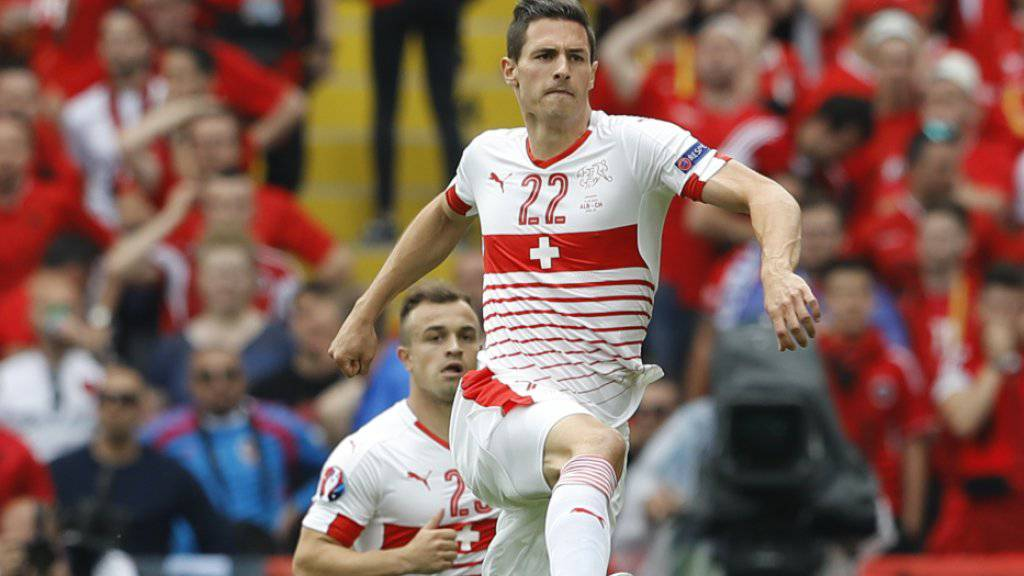 Fabian Schär setzte auch gegen Albanien offensive Akzente im Schweizer Spiel