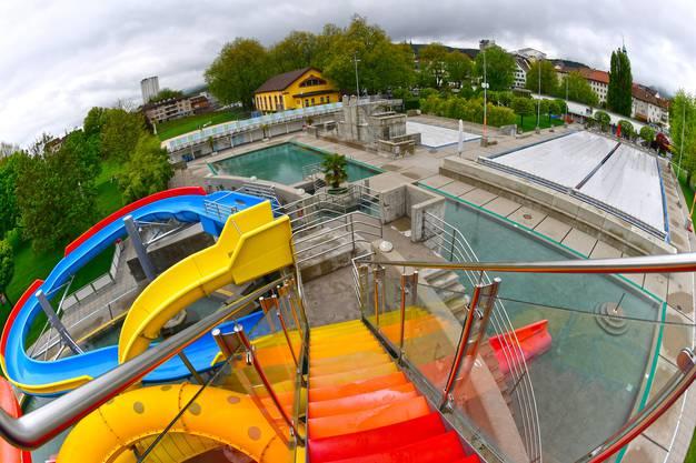 Panoramablick über die Oltner Badi.