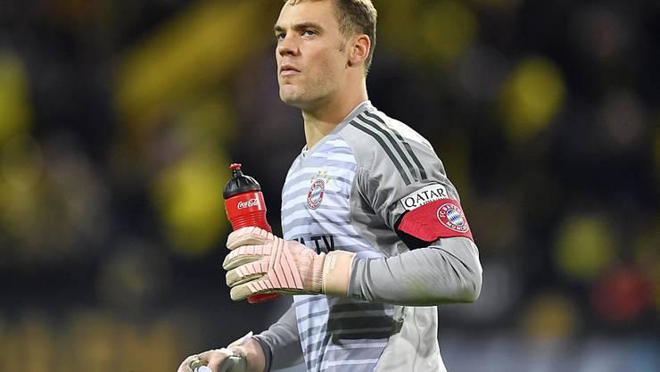 Bayerns Goalie Manuel Neuer muss pausieren