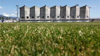 Bald die neue Heimat für (fast) alle Grenchner Fussballer? Das markante Stadion Brühl in der Sportzone.