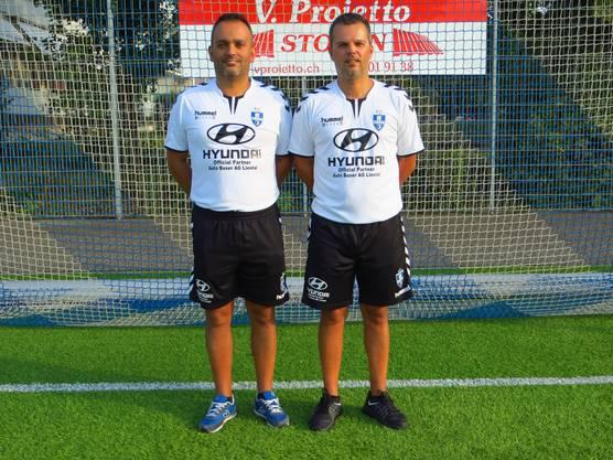 Trainer Angelo Cardoso  (rechts) Co Trainer Rui Manuel Cardoso (links) und abwesend wegen Ferien Ante Palesko