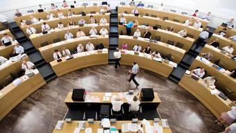 Blick in den Saal des Grossen Rates.