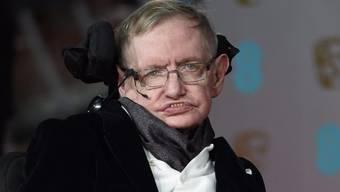 Der britische Starphysiker Stephen Hawking an den BAFTA-Awards