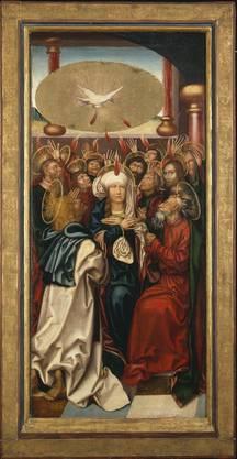 Das Pfingstwunder. Hans Fries: Ausgiessung des Heiligen Geistes (Bugnon-Altar), um 1505.