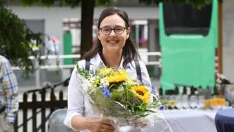 Mit rund 60 Prozent der Stimmen wiedergewählt: Nicole Nüssli-Kaiser, hier bei der Wahlfeier beim «Jägerstübli».