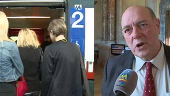 Wer mit dem Zug pendelt, soll weniger Steuerabzüge machen können. Das ist Nationalrat Ulrich Giezendanner ein Dorn im Auge.