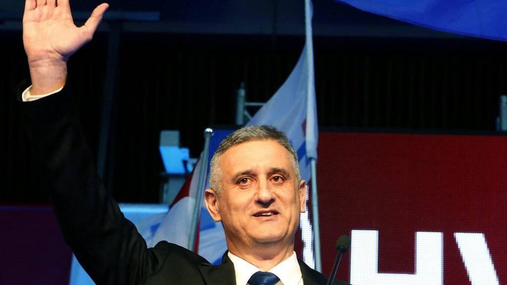 Tomislav Karamarko, mächtigster Politiker Kroatiens, ist zurückgetreten. Es sei ihm nicht gelungen, eine Mehrheit für seine christlich-konservative Partei zur Regierungsbildung zu erreichen, begründete er. (Archivbild)