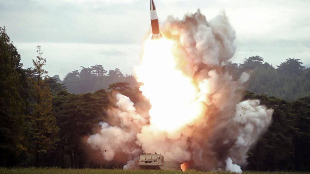 Nordkorea hat am frühen Samstag erneut einen Raketentest durchgeführt. (Archivbild)