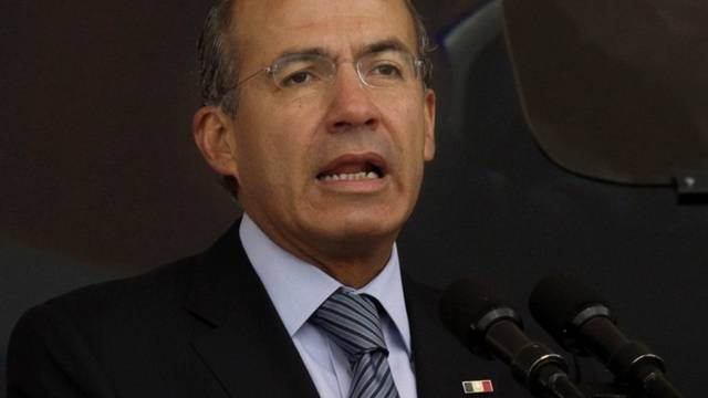Mexikos Präsident Felipe Calderon schlägt Polizeireform vor (Archiv)