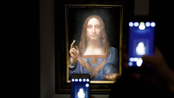 Dieses Bild von Leonardo da Vinci wurde bei einer Auktion in New York für 450 Millionen Dollar versteigert. (Justin Lane/Keystone)