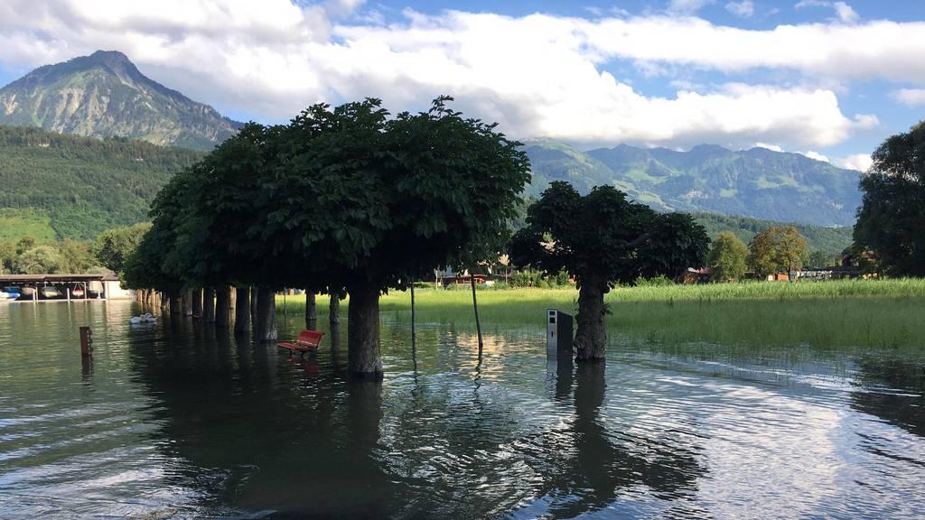 So sieht die Hochwassersituation in deinem Kanton aus