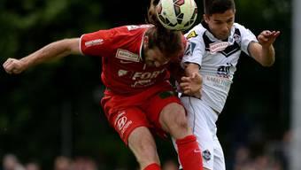 Luganos Jonathan Sabbatin (rechts) gegen Nico Siegrist