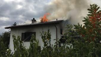 Dieses Einfamilienhaus stand in Kloten in Brand