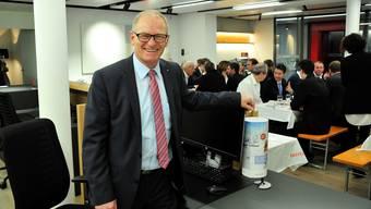 Treibende Kraft: Daniel M. Lüscher beim gestrigen Bank-Zmorge.