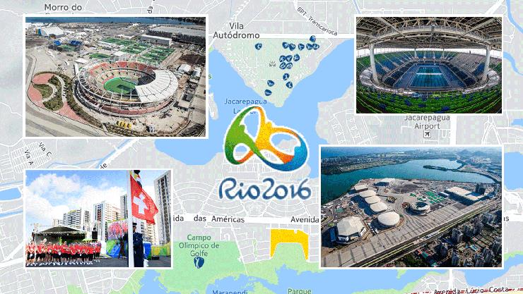 Die interaktive Karte zu den Olympischen Sommerspielen 2016 in Rio de Janeiro finden Sie im Artikel unten.