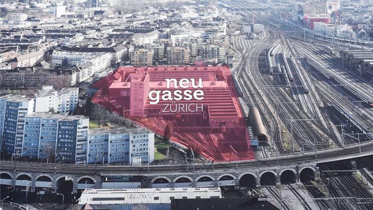 Auf dem Neugasse-Areal befindet sich heute noch die Reparaturwerkstätte der SBB.