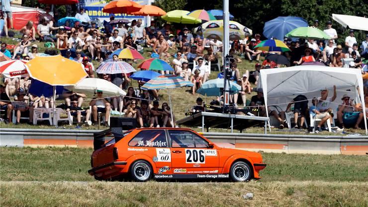 Tausende verfolgten die spannenden Rennen in Reitnau 2018 – hier mit Lokalmatador Marc Buchser aus Reitnau.