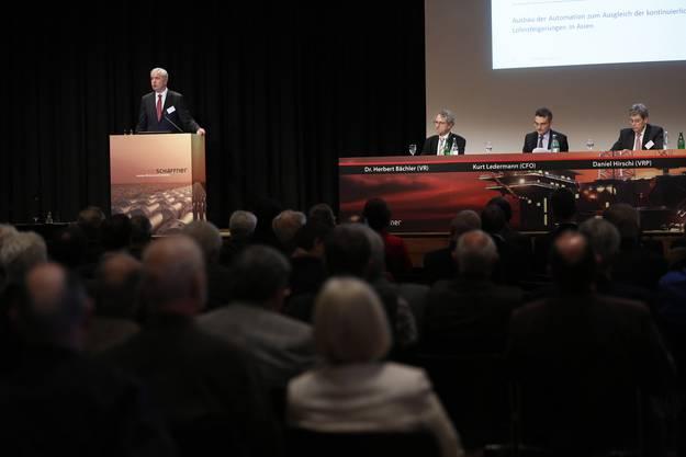Alexander Hagemann (CEO) bei seiner Ansprache