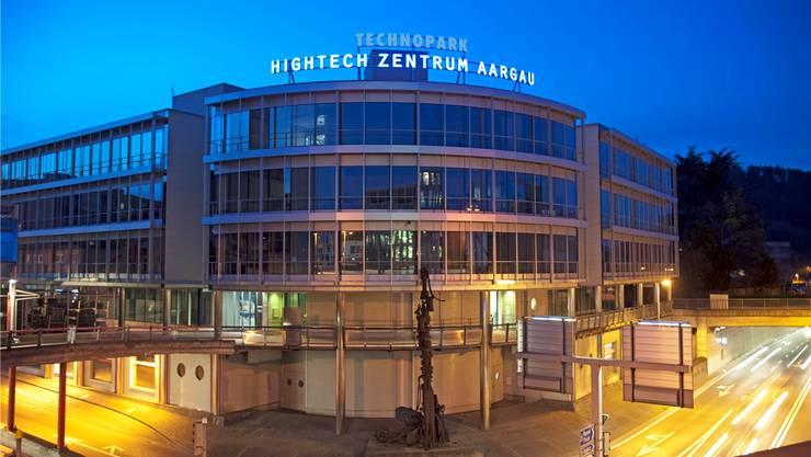 Kernstück des Programms Hightech Aargau: Das Hightech-Zentrum in Brugg, das Unternehmen durch Vernetzung mit Lehre und Forschung zu mehr Innovationen animieren soll.